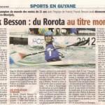 France Guyane - Franck Besson : du Rorota au titre mondial