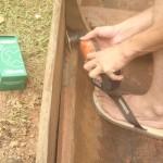 Réparation Pirogue à 4 au Rorota