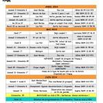 Programme du 2ème trimestre 2014