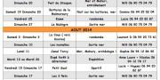 Programme du 3ème trimestre 2014